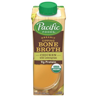 Pacific Foods Organic Gluten Free Sipping Chicken with Lemongrass Bone Broth - 8oz