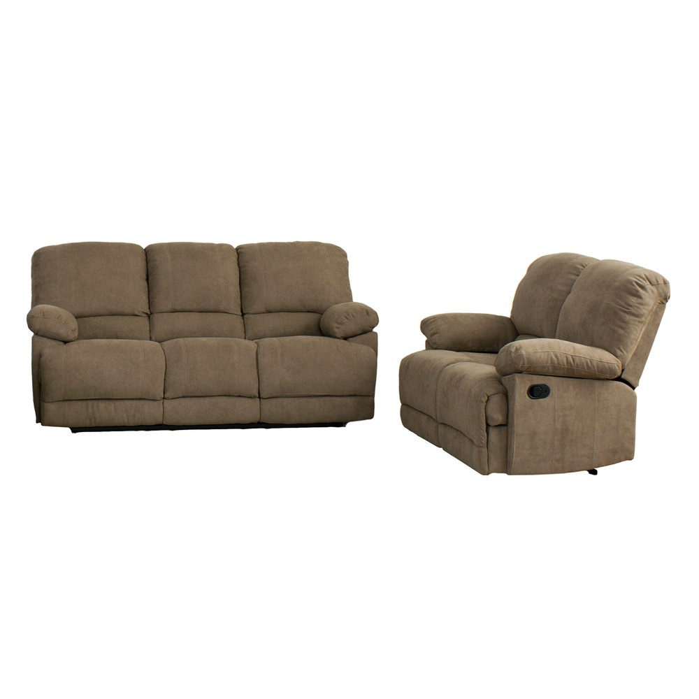 2pc Seating Set Brown - CorLiving