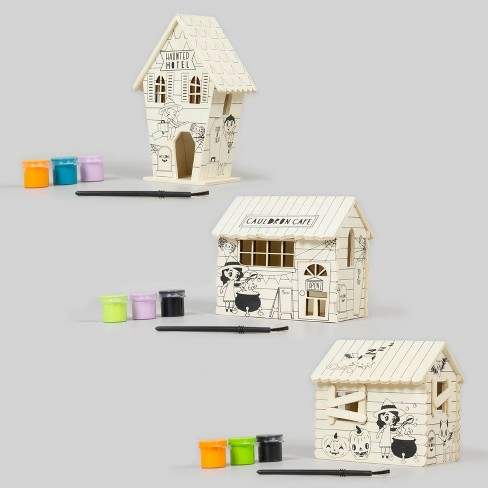 3pk Paint-Your-Own Wood Houses with Paint - Bullseye's Playground™ - image 1 of 4