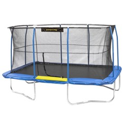 JumpKing 12 x 17 Foot Large Rectangular Trampoline with Safety Net Wall Siding