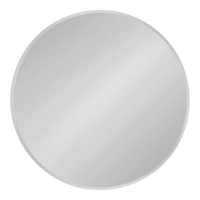 "26"" x 26"" Azalea Round Frameless Mirror Silver - Kate and Laurel"