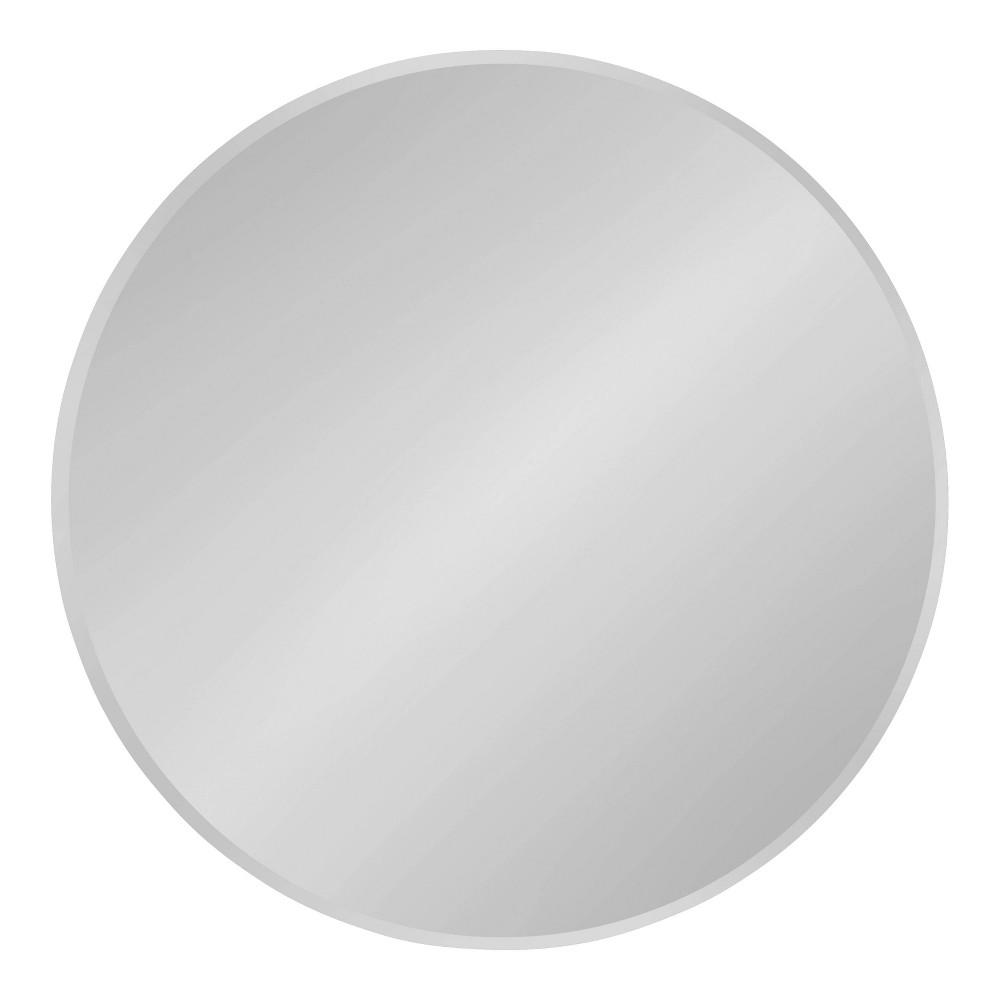 "Image of ""26"""" Azalea Round Frameless Mirror Silver - Kate and Laurel"""
