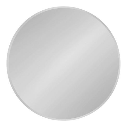 "26"" x 26"" Azalea Round Frameless Mirror Silver - Kate and Laurel - image 1 of 4"