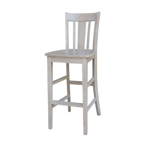 San Remo Bar Height Stool Washed Gray Taupe - International Concepts - image 1 of 9