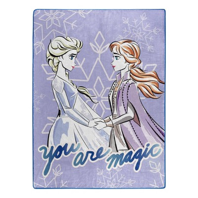 You Are Magic Frozen Elsa and Anna Dynamic Duo Silk Touch Throw