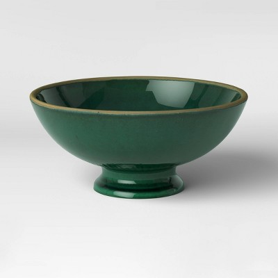 "5"" x 10"" Glazed Ceramic Bowl Green - Threshold™"