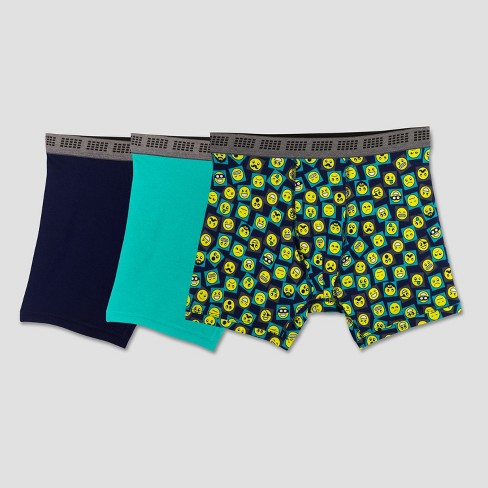 Fruit of the Loom Boys' 3pk Emoji Print Boxer Briefs - image 1 of 1