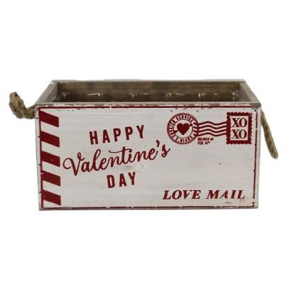 """Home & Garden 4.5"""" Love Mail Wood Planter Valentine's Day  Love Xoxo Burton & Burton  -  Planters"""