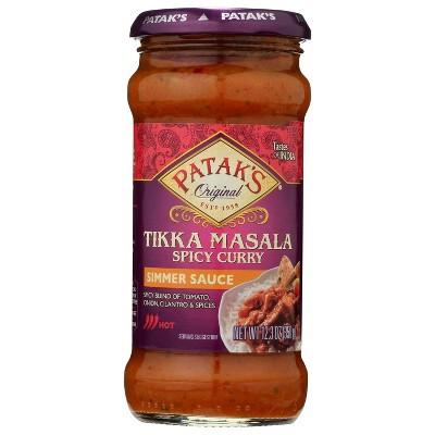Patak's Hot & Spicy Tikki Masala Curry Simmer Sauce 12.3oz