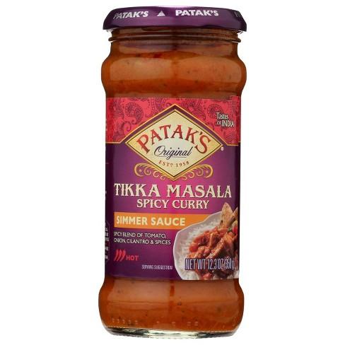 Patak's Hot & Spicy Tikki Masala Curry Simmer Sauce 12.3oz - image 1 of 4