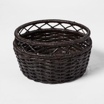 Woven Rattan Basket Large Brown - Threshold™