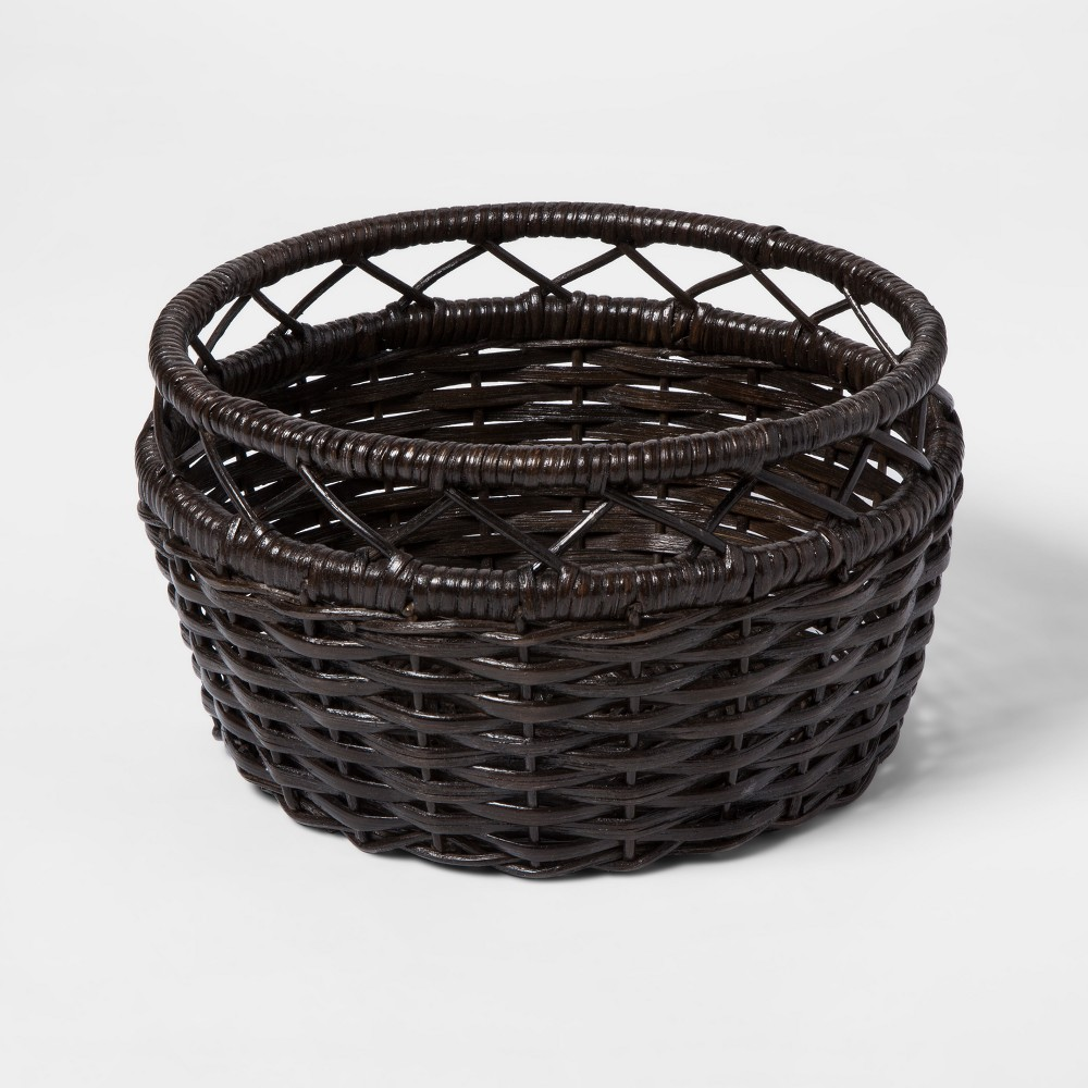 Woven Rattan Basket Large Brown - Threshold