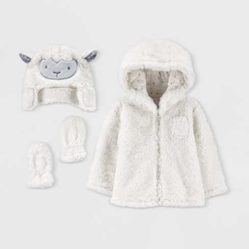 Baby Sherpa Sheep Overcoat Jacket Set - Just One You® made by carter's Ivory - image 1 of 1