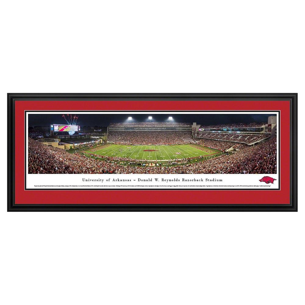 NCAAArkansas Razorbacks BlakewayFootball Stadium View Framed Wall Art, Arkansas Razorbacks