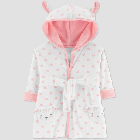 Baby Girls' Sheep Bath Robe - Just One You® made by carter's Pink One Size - image 1 of 1