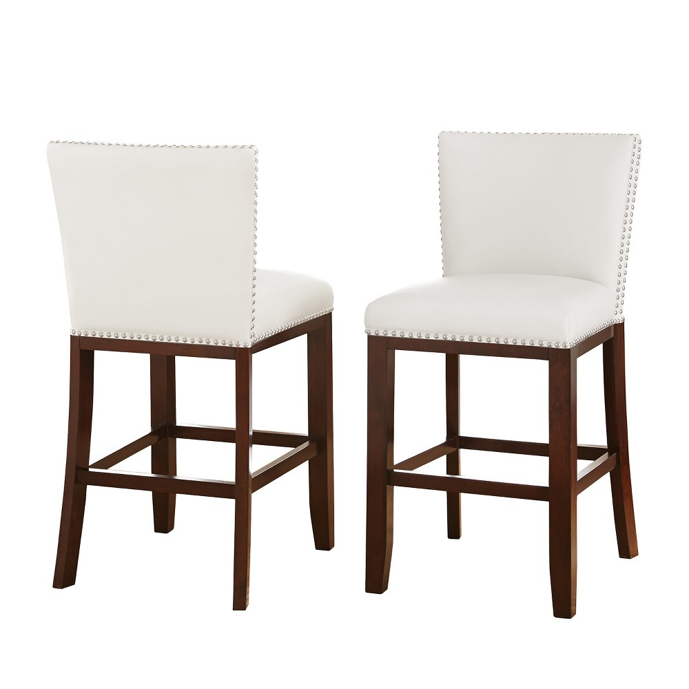 Whitney Counter Chairs White (Set of 2) - Steve Silver, Clear White