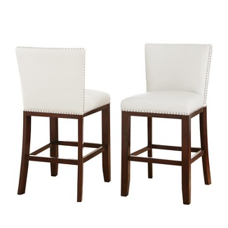 Whitney Counter Chairs White (Set of 2) - Steve Silver