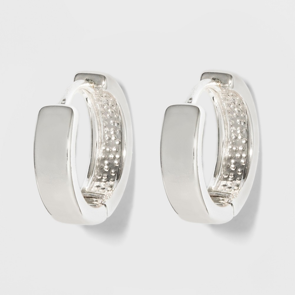 Medium Huggie Earrings - A New Day Silver