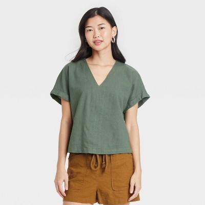 Women's Short Sleeve Blouse - Universal Thread™