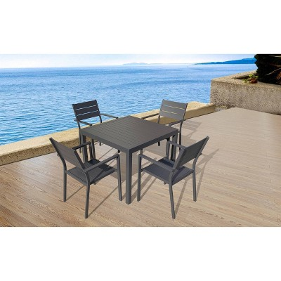 Sorrento 5pc Dining Set - Black - Infinity