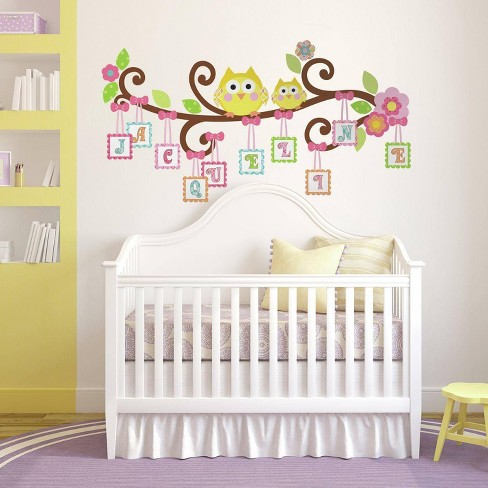 Happi Scroll Tree Letter Branch Peel and Stick Giant Wall Decal - RoomMates - image 1 of 4