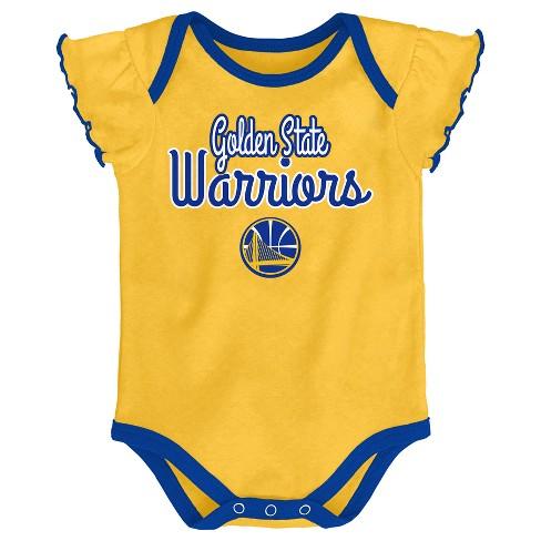 buy online 4c4e4 5ac72 Golden State Warriors Girls' Draft Pick 3pk Body Suit Set 12 M