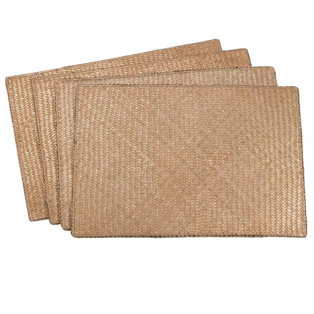 Image of Gold Solid Placemat - Saro Lifestyle