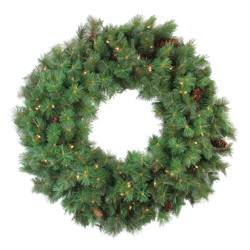 Northlight Pre-lit Royal Oregon Pine Artificial Christmas Wreath - 36-Inch, Clear Lights