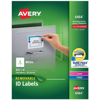 Avery Inkjet/Laser Removable Labels White 150/Pack (6464) 671990