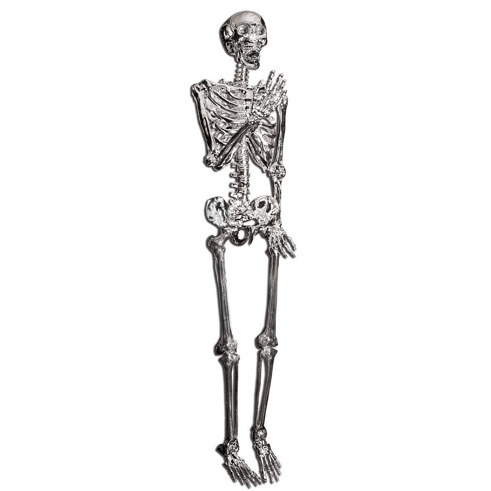 "Image of ""60"""" Halloween Posable Skeleton- Silver"""