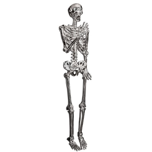 "60"" Halloween Posable Skeleton- Silver - image 1 of 1"