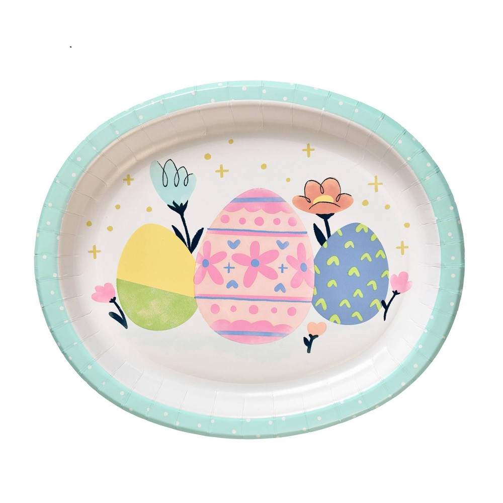 """Image of """"10ct 10"""""""" x 12"""""""" Easter Oval Platter - Spritz"""""""