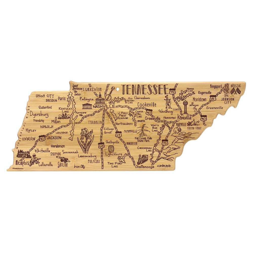 Promos Totally Bamboo Destination Tennessee Serving and Cutting Board