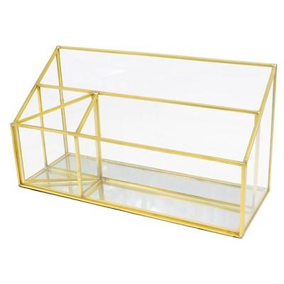 glass desktop organizer gold threshold target rh target com target threshold desk organizer target threshold desk organizer