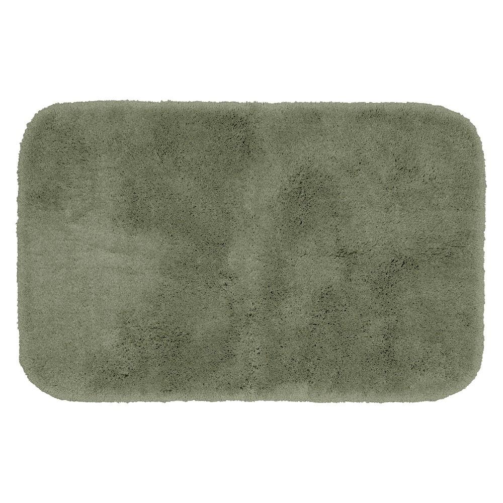 Garland Finest Luxury Ultra Plush Washable Nylon Bath Rug - Deep Fern (24