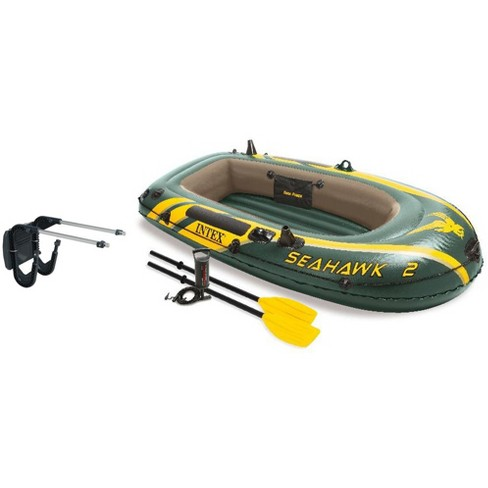 Intex Seahawk 2 Inflatable Boat Set + Oars/Pump/Motor Mount | 68347EP +  68624E