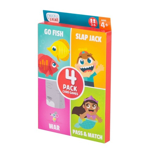 Chuckle & Roar 4pk of Classic Card Games - Go Fish, Slap Jack, War and Pass & Match - image 1 of 5