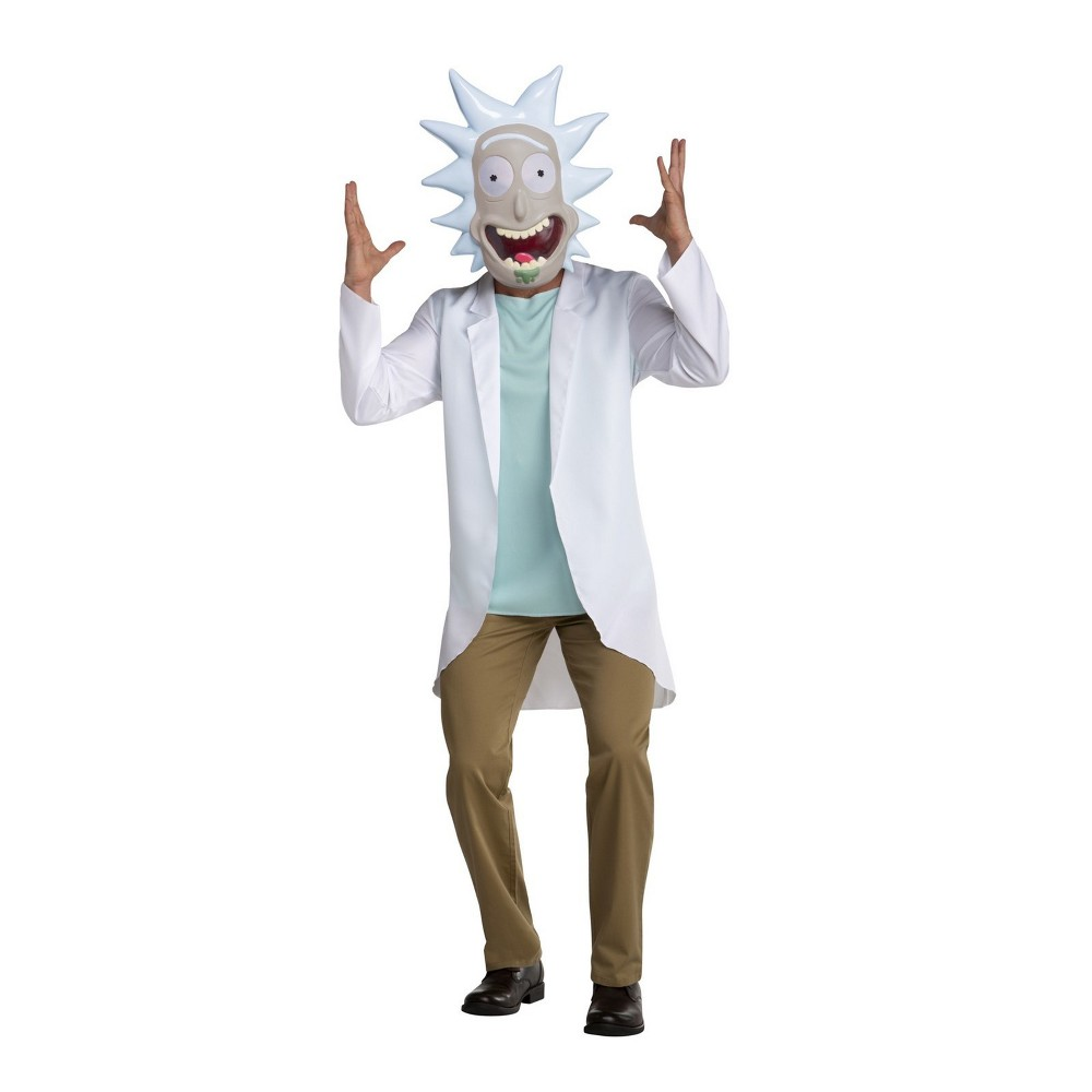 Image of Halloween Adult Rick & Morty Rick Sanchez Halloween Costume M, Men's, Size: Medium, MultiColored