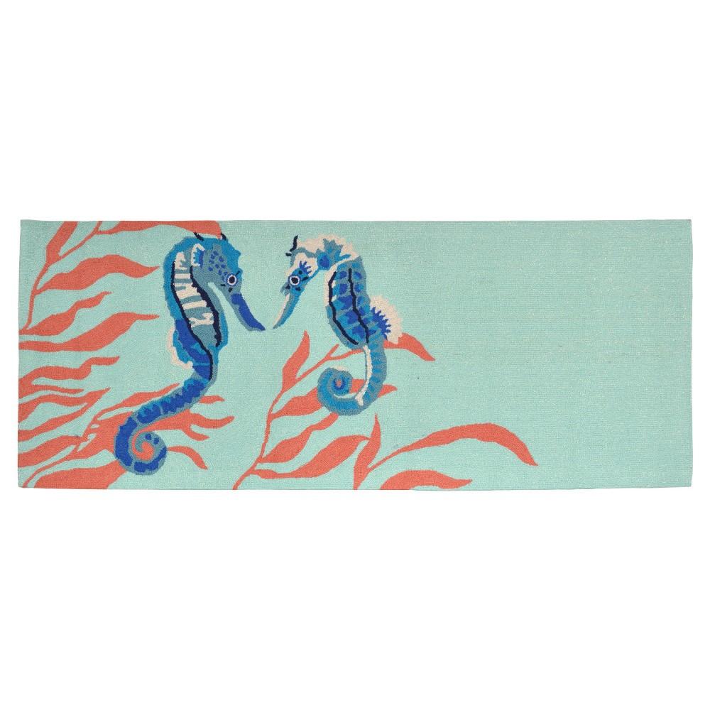 Frontporch Indoor/Outdoor Seahorse Aqua Rug 27