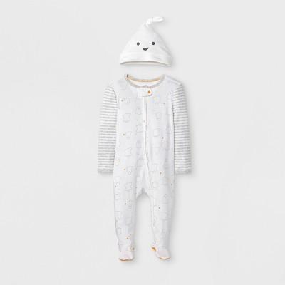 Baby's Ghost Sleep 'N Play 2pc Set - Cloud Island™ White 0-3M