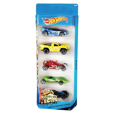 Hot Wheels Diecast  Cars - 5pk