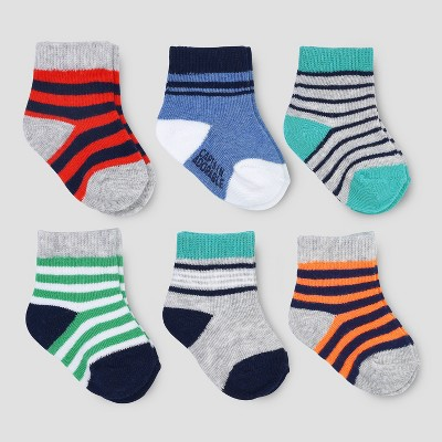 Baby Boys' 6pk Ankle Toe Pop Socks - Just One You® made by carter's Multicolor 0-3M