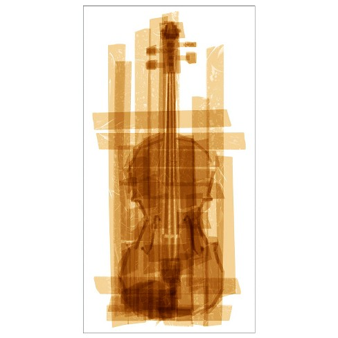 Taped Violin Unframed Wall Canvas Art - (18X36) - image 1 of 1