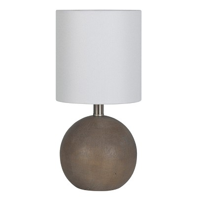 Faux Wood Table Lamp Gray - Threshold™