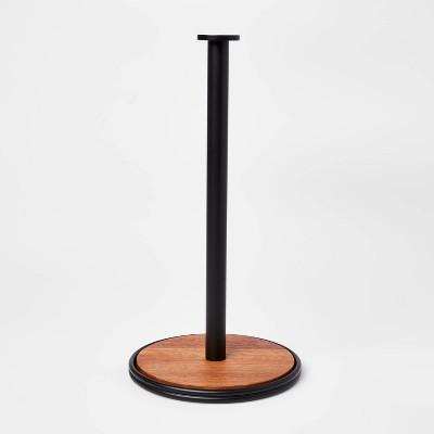 Wood Paper Towel Holder Black - Threshold™