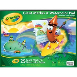 Crayola® Giant Marker & Watercolor Pad 25pgs
