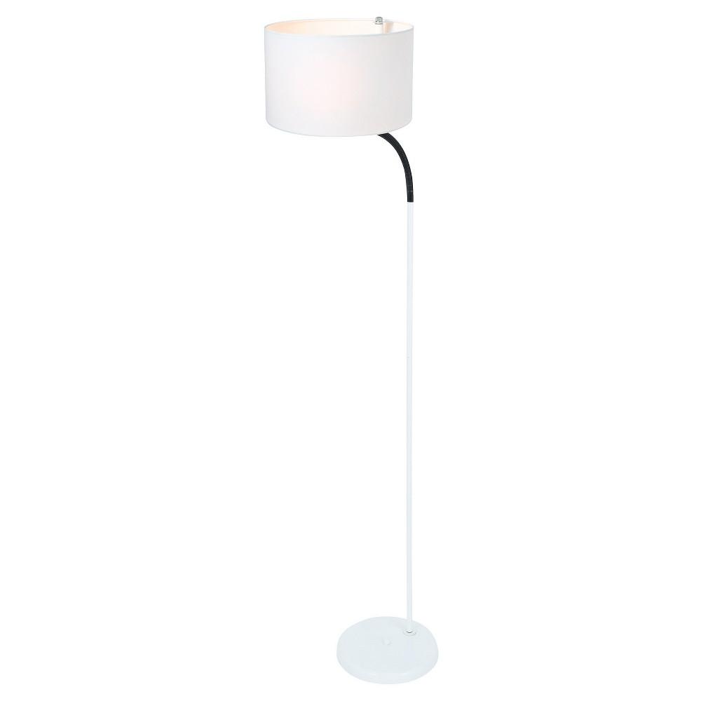 Gillian Floor Lamp White (Includes Energy Efficient Light Bulb) - Lite Source