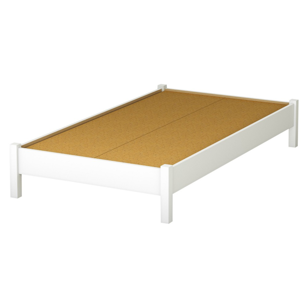 Step One Platform Bed - Twin - Pure White - South Shore