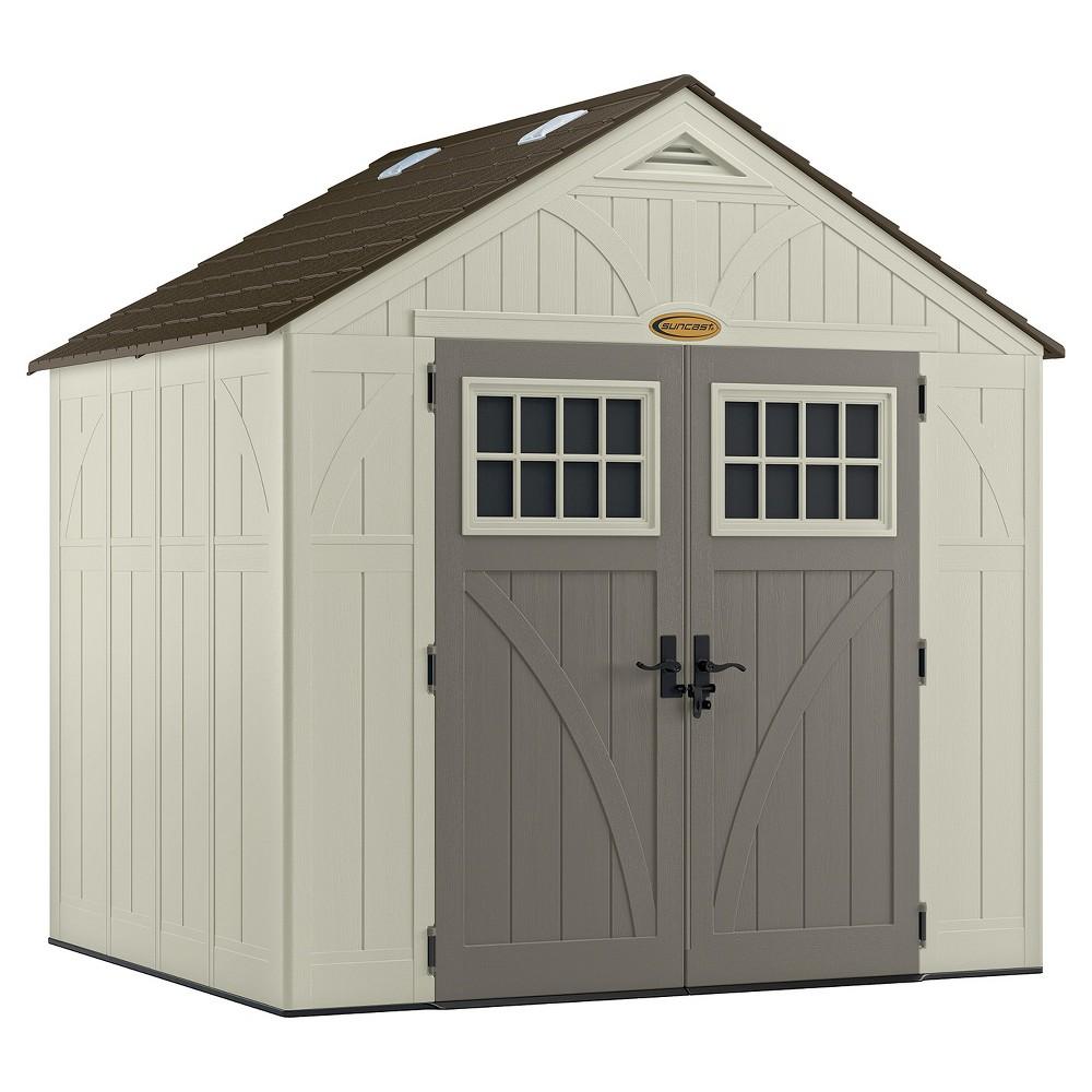 Tremont Storage Shed 8' X 7' - Vanilla/Gray - Suncast, Size: 8' x 7' Storage Shed, White Gray