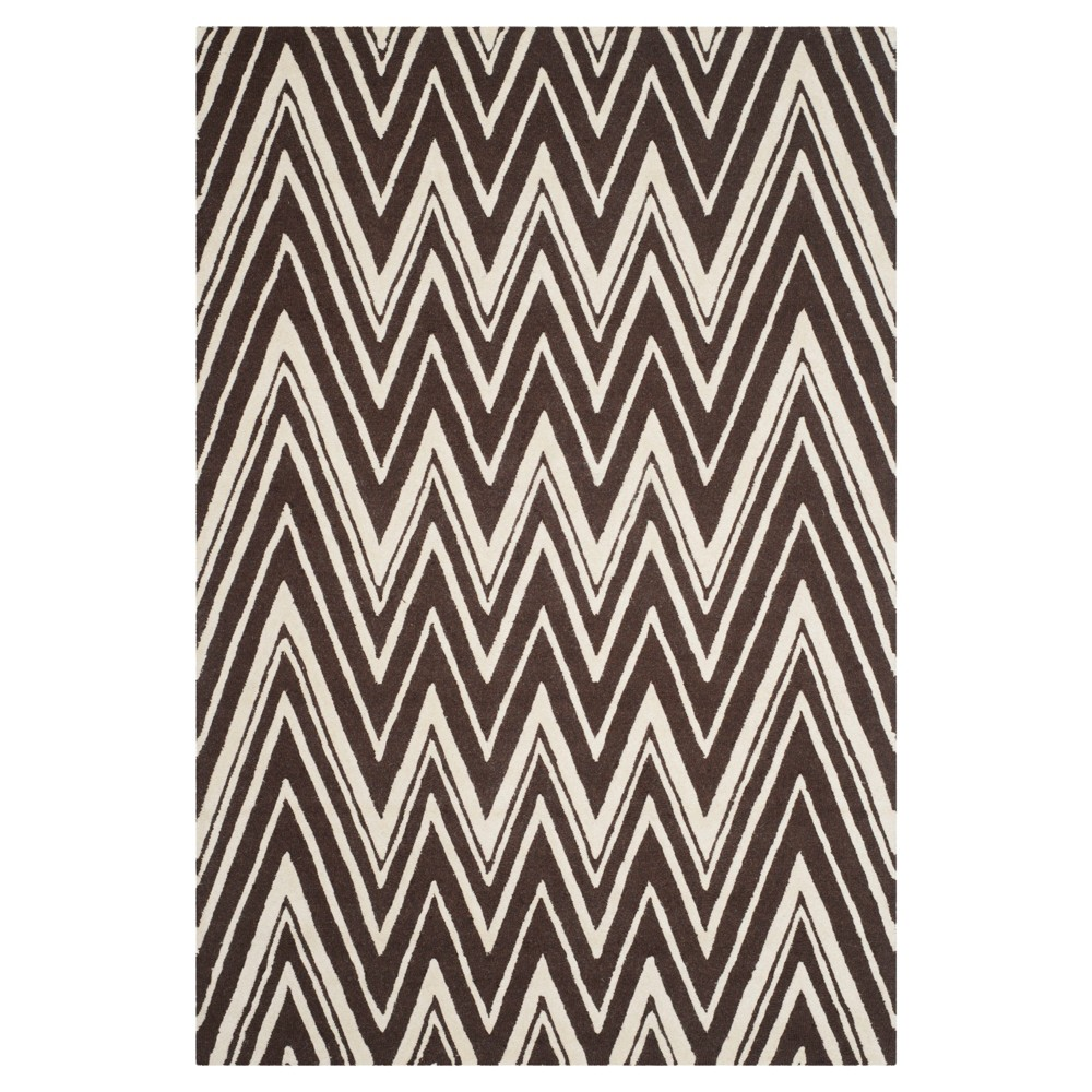 Burton Textured Area Rug - Brown/Ivory (6'x9') - Safavieh